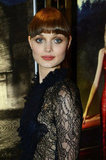 Bella Heathcote dressed in a black lace dress for the occasion.