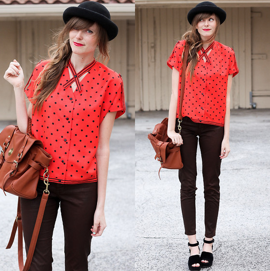 Amp up the print with a punchy color that offsets your staple black skinnies.  Photo courtesy of Lookbook.nu