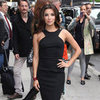 Eva Longoria Black Cutaway Dress