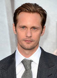 Alexander Skarsgard attended the premiere of Battleship in LA.