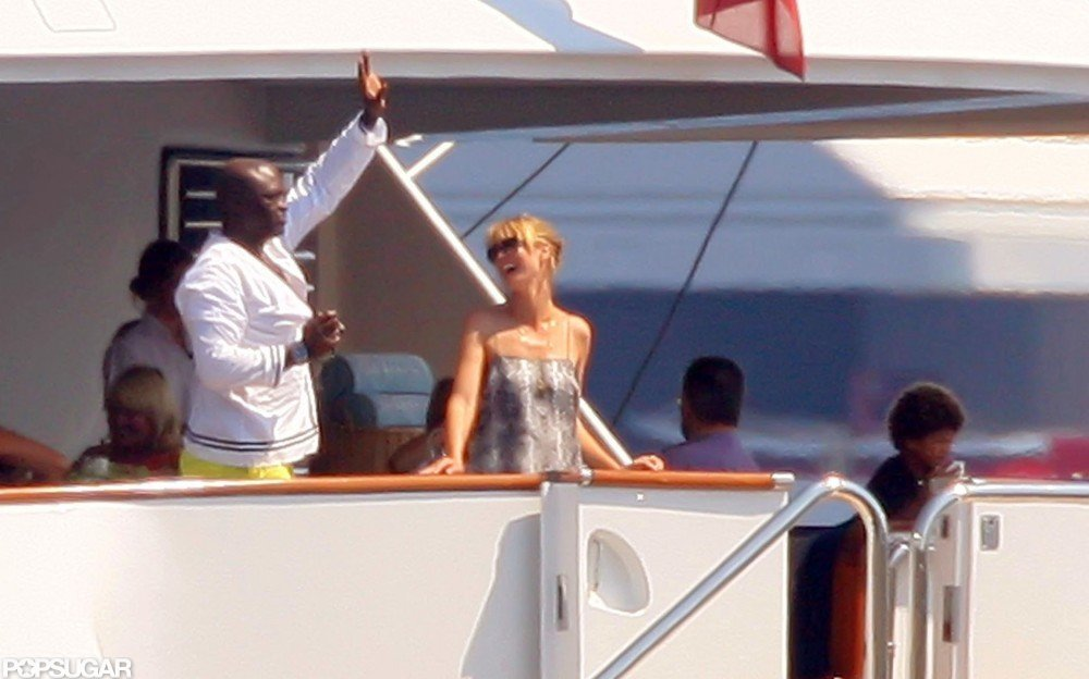 Seal, Heidi Klum, and their kids took a yacht vacation to France in August 2010.