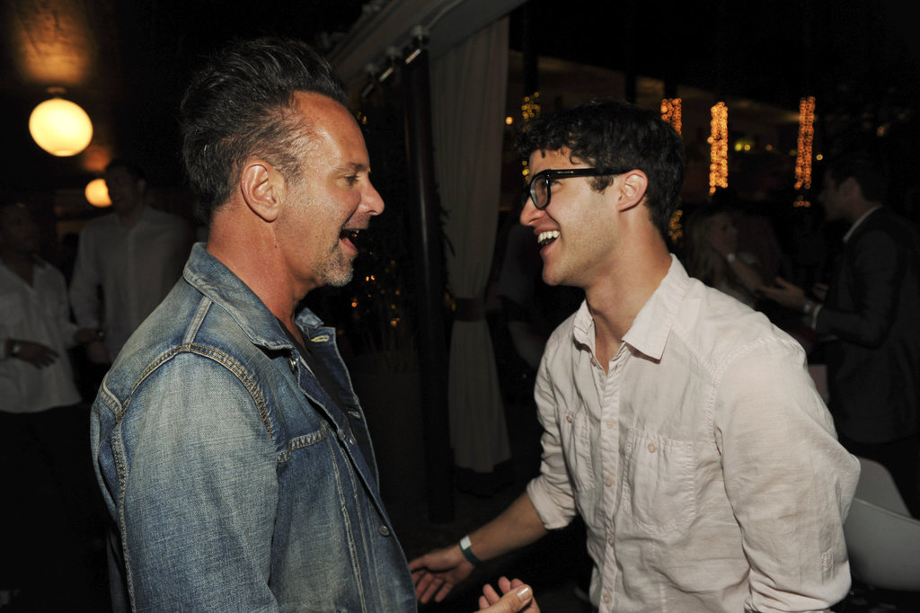 Darren Criss had a laugh with Nylon magazine's editor in chief, Marvin Scott Jarrett.
