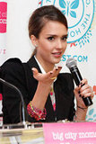 Jessica Alba spoke at NYC's Biggest Baby Shower event.