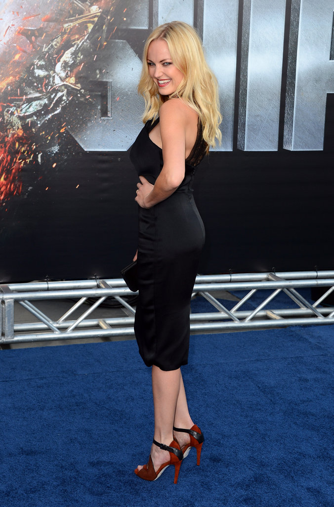 Malin Ackerman posed at the premiere of Battleship in LA.