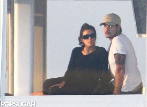 Eduardo Cruz and Eva Longoria cozied up while yachting in Miami in November 2011.