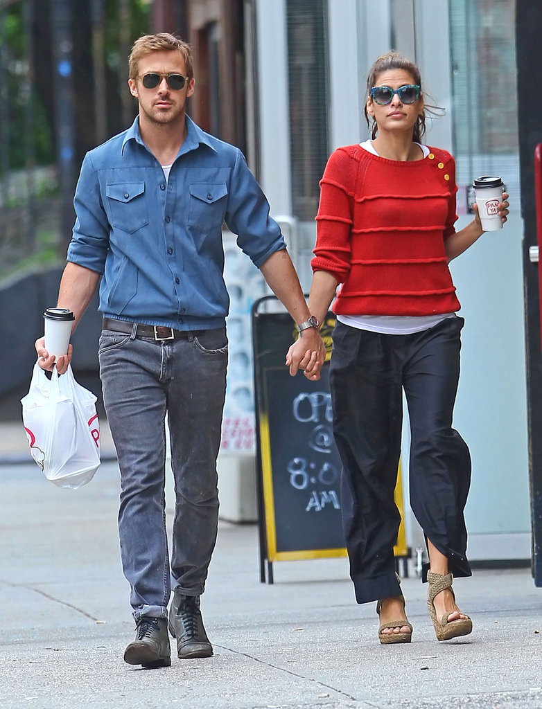 Ryan Gosling held hands with Eva Mendes during a May stroll through NYC.