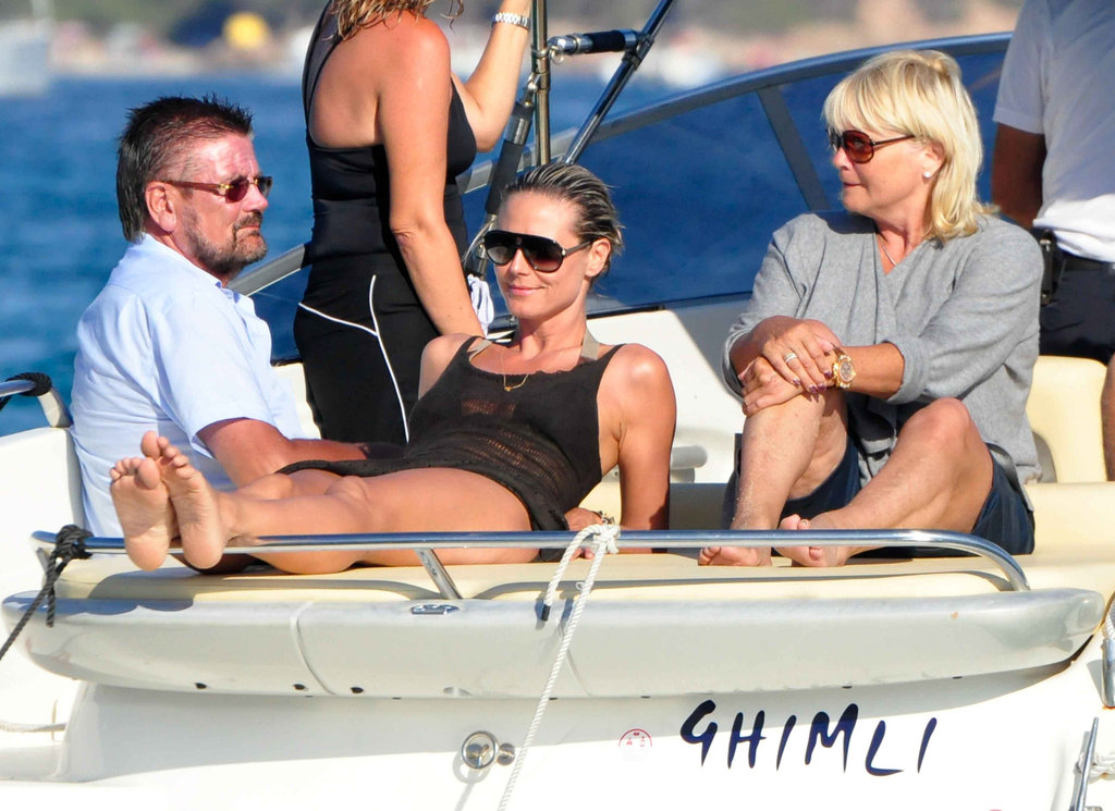 Heidi Klum kicked back on a boat docked off the coast of Croatia during an August 2011 vacation with her family.