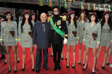 Sacha Baron Cohen and Mohammed Al Fayed arrived in London for the premiere of The Dictator.