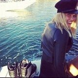 Lara Bingle went wakeboarding. Source: Instagram User mslarabingle