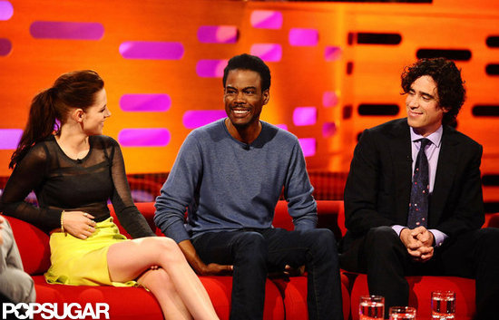 Kristen Stewart was on The Graham Norton Show with Chris Rock and Stephen Mangan.