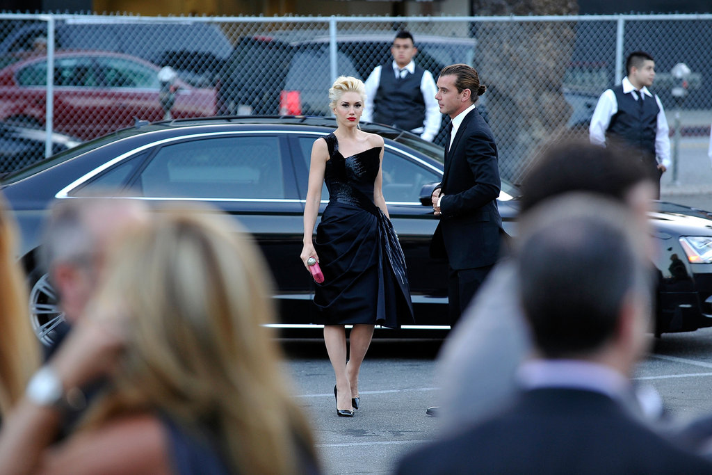 Gwen Stefani and Gavin Rossdale arrived at the Hollywood Palladium.