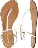 The perfect basic sandal for everyday.  Wet Seal Dolce T-Strap Sandal ($10)