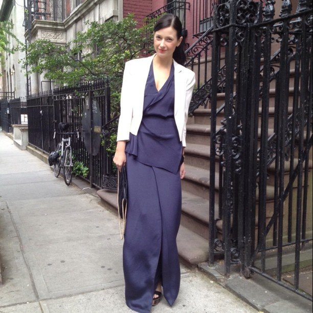 Fashionologie's Christina Perez stepped out in her sleek Phillip Lim look for the Met Gala.
