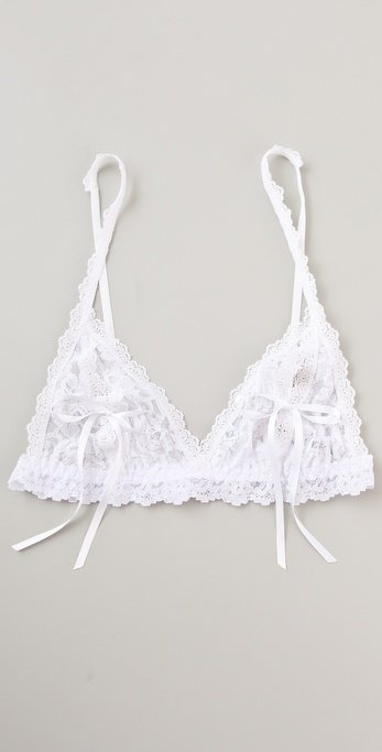 Doesn't a white lacy bra just make everything sweeter?  Hanky Panky After Midnight Open Bralette ($48)