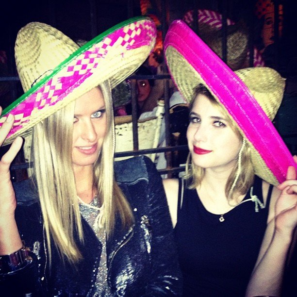 Nicky Hilton celebrated Cinco de Mayo with Emma Roberts.