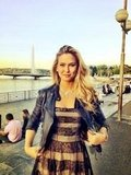 Bar Refaeli looked gorgeous in Geneva.