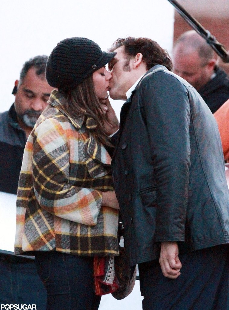 Mila Kunis and Clive Owen had a passionate scene for the filming of Blood Ties in NYC.