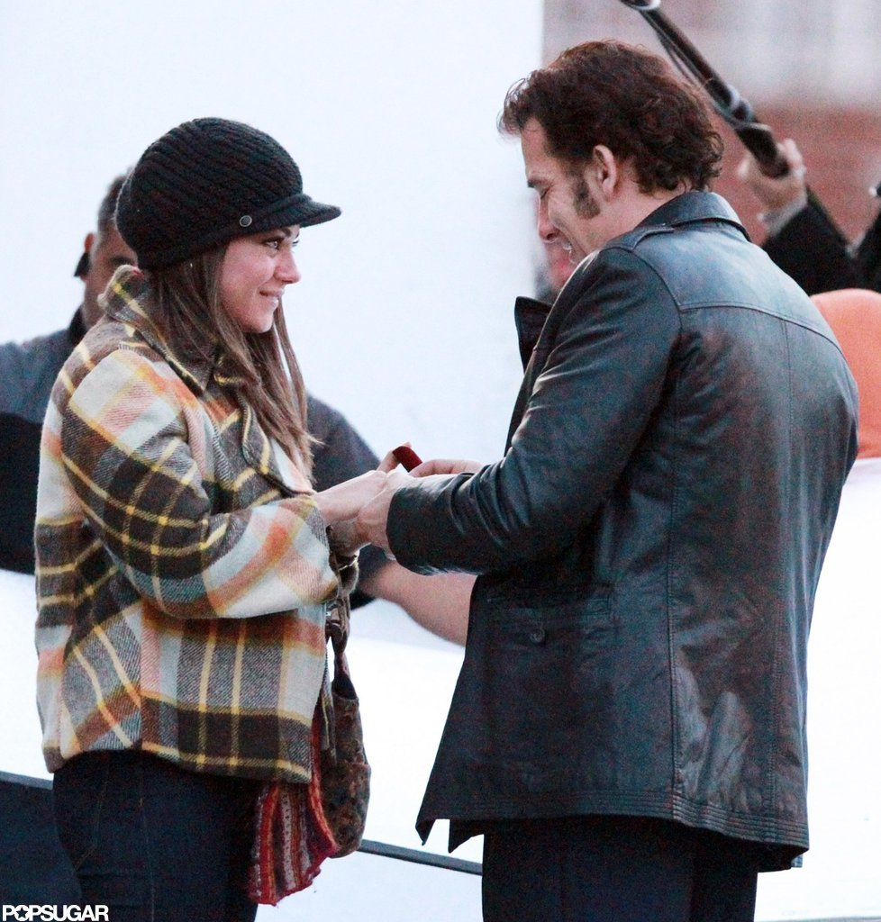 Mila Kunis and Clive Owen were spotted on the set of Blood Ties together in NYC.