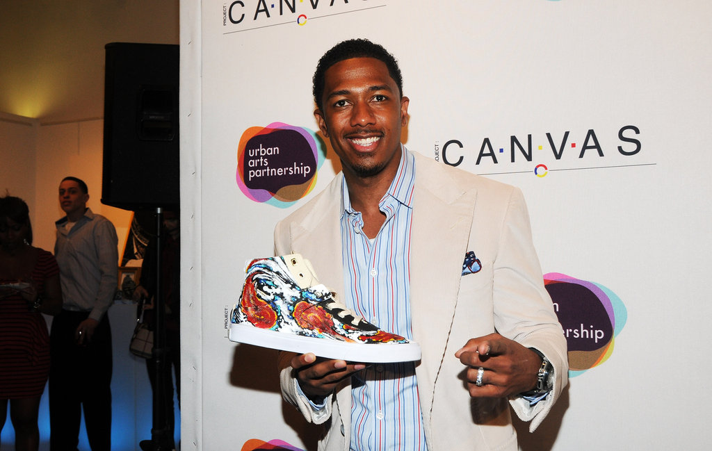 Nick Cannon looked dapper at the Project Canvas Exhibition & Art Gala in NYC.