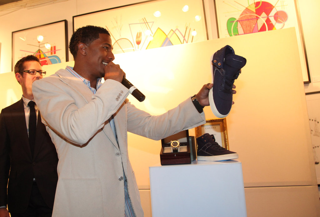 Nick Cannon spoke at the Project Canvas Exhibition & Art Gala in NYC.