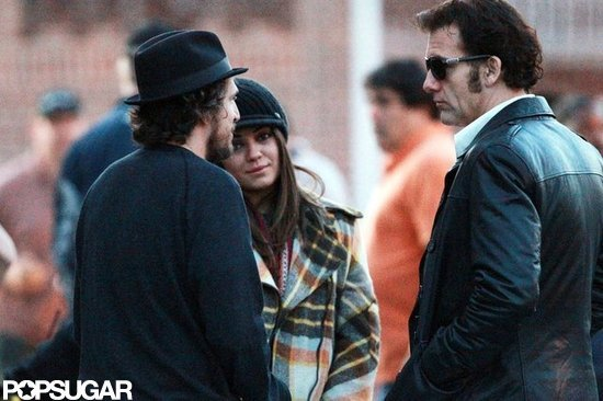Mila Kunis and Clive Owen were on the set of Blood Ties together in NYC.