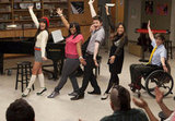 Lea Michele, Amber Riley, Chris Colfer, Jenna Ushkowitz, and Kevin McHale on Glee. Photo courtesy of Fox