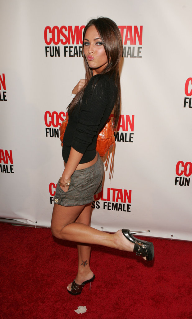 Megan Fox wore short shorts for Cosmopolitan magazine's 40th Birthday Party Celebration in September 2005.