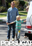 Gavin Rossdale and Kingston spent Mother's Day with family in LA.