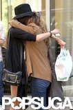 Nina Dobrev hugged her mom in NYC on Mother's Day.