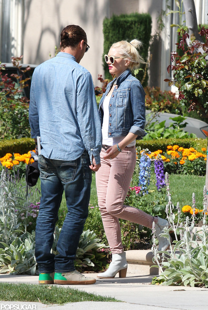 Gwen Stefani and Gavin Rossdale both wore denim tops.