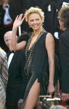Charlize Theron showed some serious leg at the premiere of The Life and Death of Peter Sellers in 2004.