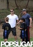 Ryan Phillippe watched Deacon's flag football game in LA.
