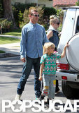 Gavin Rossdale spent Mother's Day with family in LA.