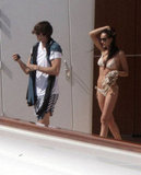 Ashton Kutcher and Demi Moore spent some romantic time on a yacht in January 2011 in St. Barts.