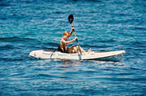 Prince Harry took a solo canoe ride off the coast of St. Tropez during a July 1997 vacation.