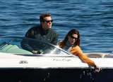 Ryan Reynolds and Sandra Bullock went cruising in a boat while filming scenes for The Proposal in Boston in 2008.