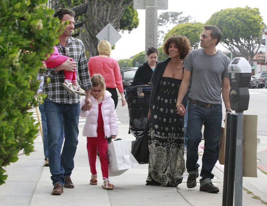 Halle Berry and Olivier Martinez ran into Ben Affleck and his daughters during a day out in Santa Monica, CA, in May 2012.
