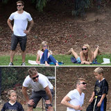 Ryan Phillippe, His Girlfriend, and Daughter Ava Cheer on Deacon
