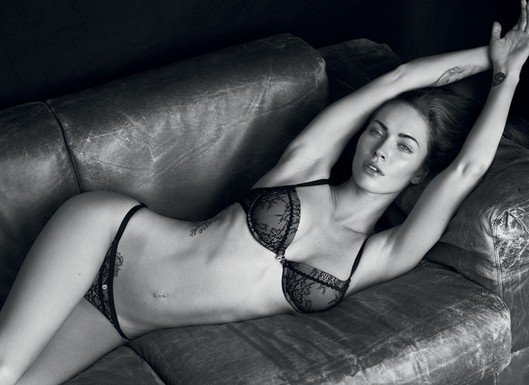Megan Fox stripped down to her lingerie for a 2011 Armani ad.