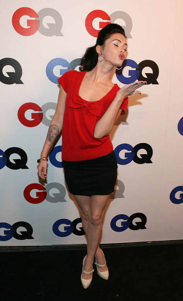 Megan Fox blew a kiss at a December 2007 GQ event in LA.