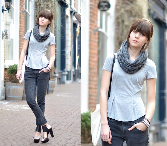 This peplum t-shirt acts like a great basic, perfect for building a more casual look around. Photo courtesy of Lookbook.nu