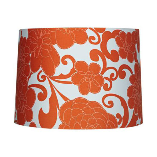 This burnt orange color makes us think of sunny Summer days, and we'd love to add this Orange Floral Drum Lamp Shade ($40) to any number of table lamps.