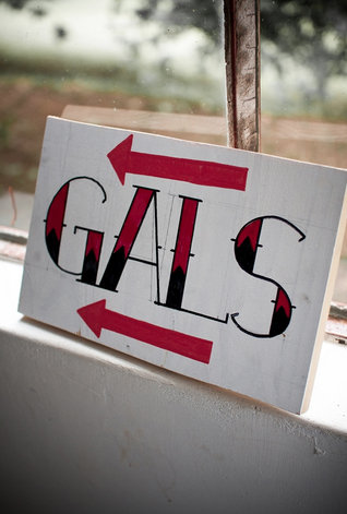 "Cheeky ""Gals"" Sign"