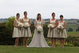 '50s-Inspired Bridesmaids Dresses