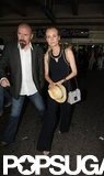 Diane Kruger landed at the Nice airport.