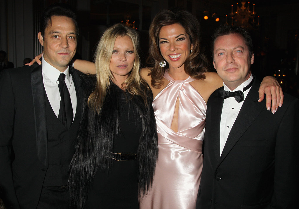 Kate Moss and Jamie Hince posed for photos with event host Heather Kerzner and Matthew Freud.