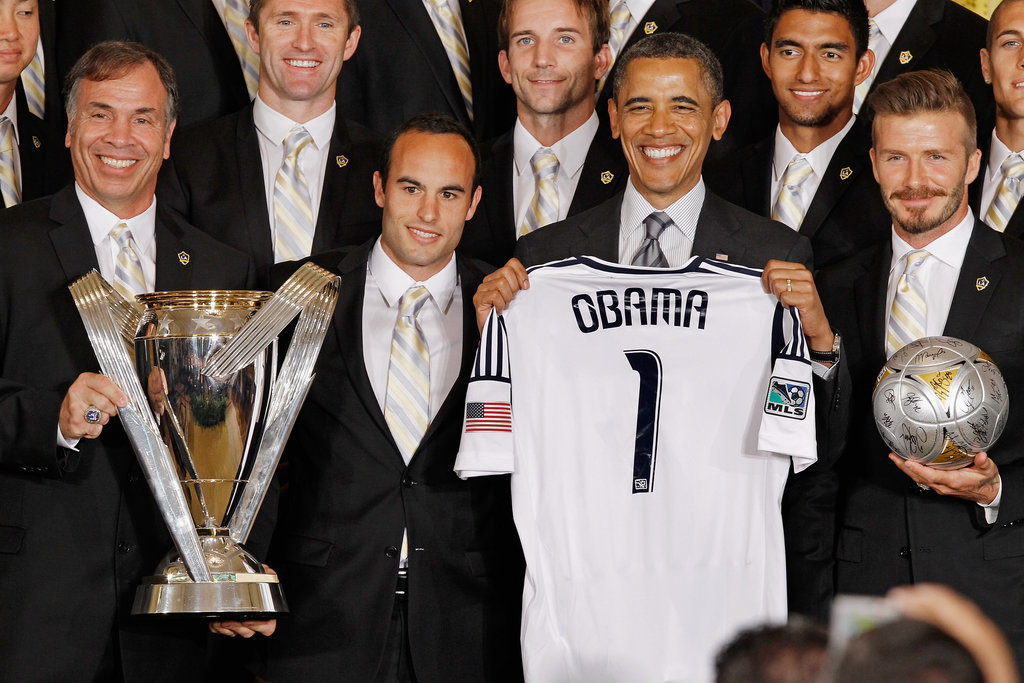 David Beckham and the Galaxy were honored at the White House in May.