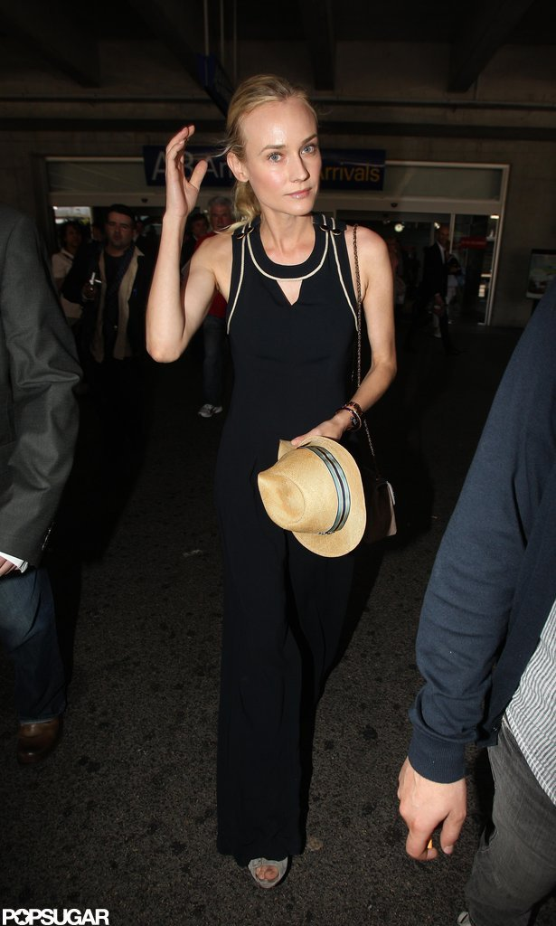 Diane Kruger toted a hat.