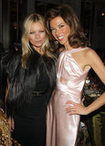 Kate Moss and Heather Kerzner posed together at the Marie Curie Cancer Care Fundraiser in London.