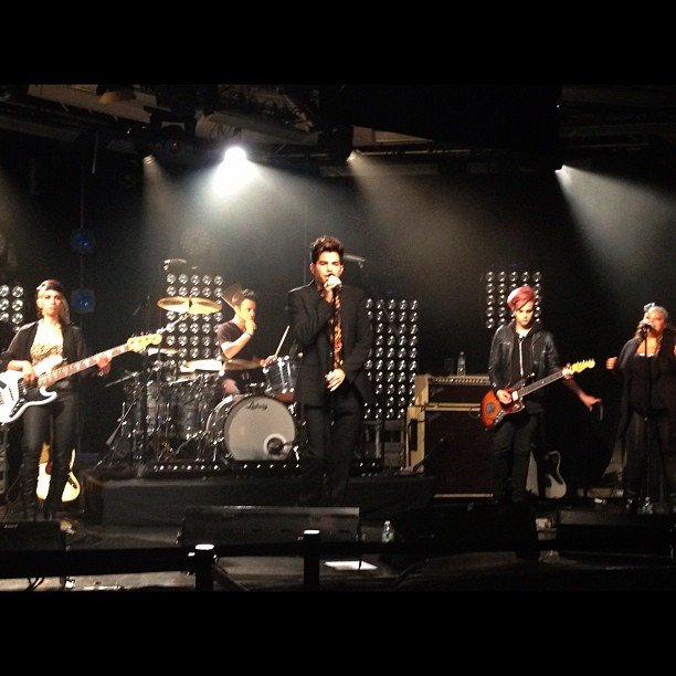 Adam Lambert did a soundcheck before his performance. Source: Instagram user iheartradio